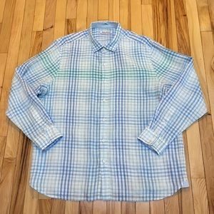 Tommy Bahama Linen Long Sleeve Button Down Size XL